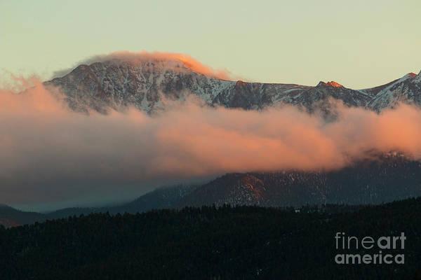Photograph - Sunset On Pikes Peak by Steve Krull