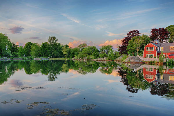 Photograph - Sunset On Redds Pond Marblehead Ma by Toby McGuire