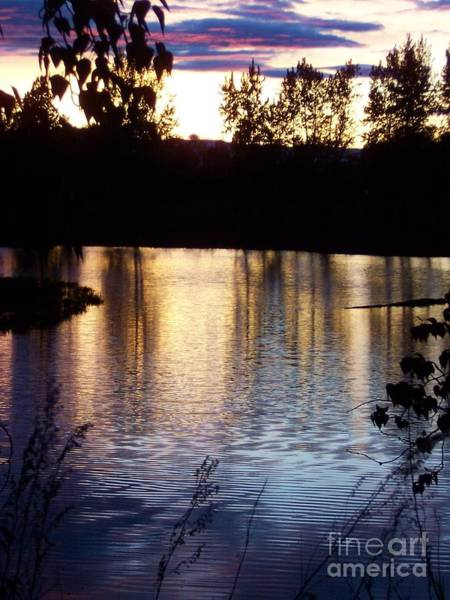 Photograph - Sunset On River by Deahn      Benware
