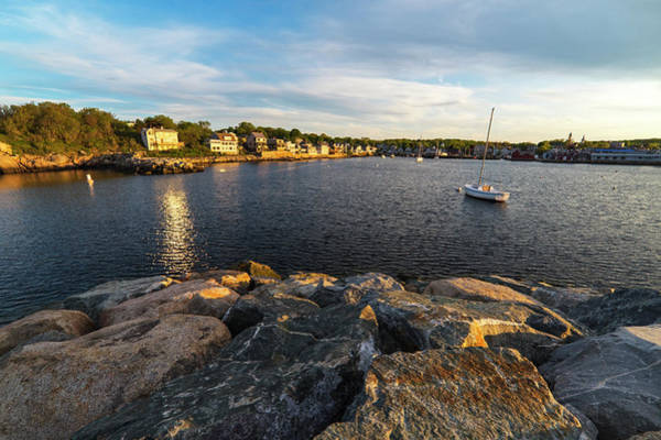 Photograph - Sunset On Rockport Harbor Rockport Ma by Toby McGuire