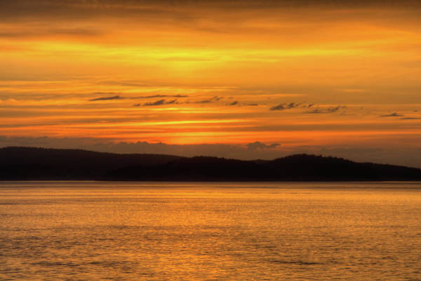 Wall Art - Photograph - Sunset On Rosario Strait by Rich Leighton