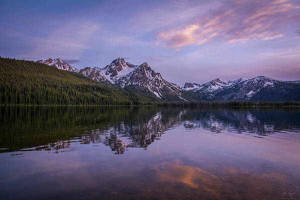 Photograph - Sunset On Stanley Lake by Aaron Spong