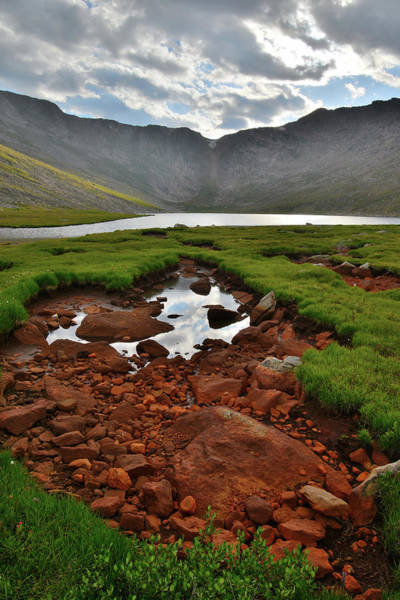 Photograph - Sunset On Summit Lake Beneath Mt. Evans by Ray Mathis