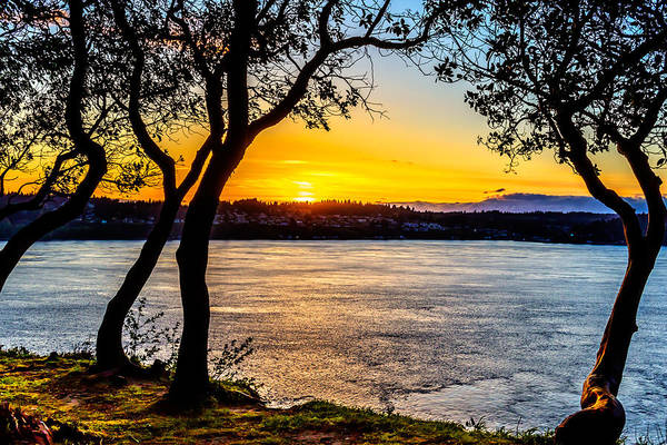 Photograph - Sunset On Tacoma Narrows by Rob Green