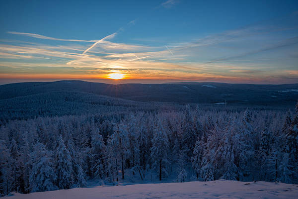 Photograph - sunset on the Achtermann, Harz by Andreas Levi