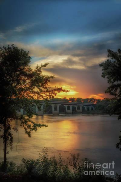 Sunset On The Arkansas Art Print