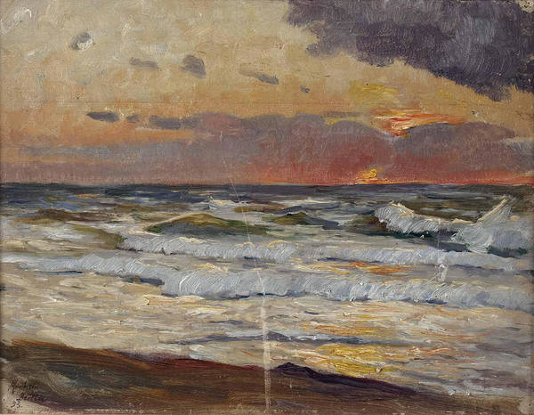 Baltic Sea Painting - Sunset On The Baltic Sea by Max Uth