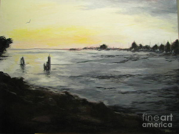 Eureka Painting - Sunset On The Bay by Patricia Kanzler