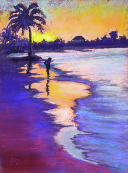 Painting - Sunset On The Beach by Lisa Crisman
