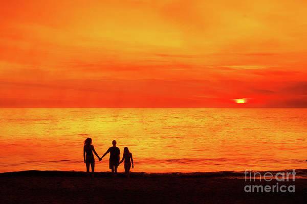 Wall Art - Digital Art - Sunset On The Beach by Randy Steele