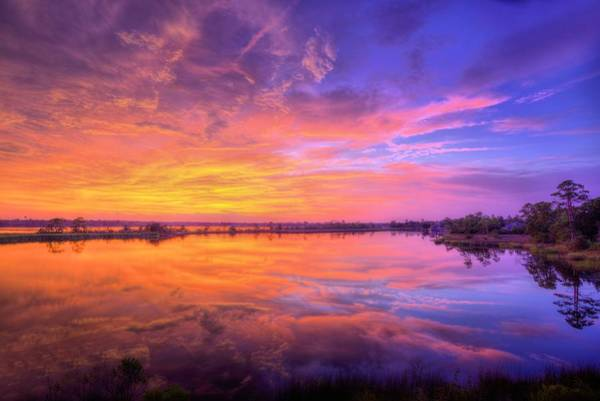 Photograph - Sunset On The Black Water by JC Findley