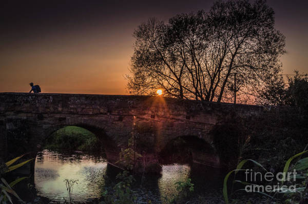 Photograph - Sunset On The Bridge, Newenden by Perry Rodriguez