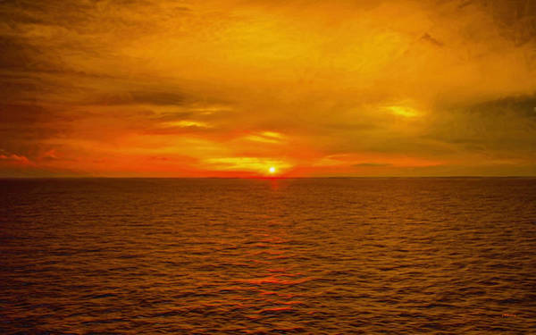 Photograph - Sunset On The Caribbean Sea by John M Bailey