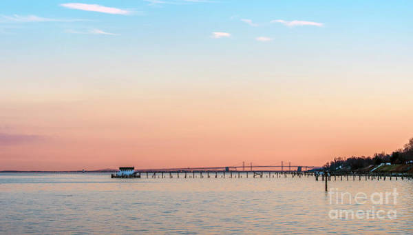Photograph - Sunset On The Chesapeake Bay With Bay Bridge by Patrick Wolf
