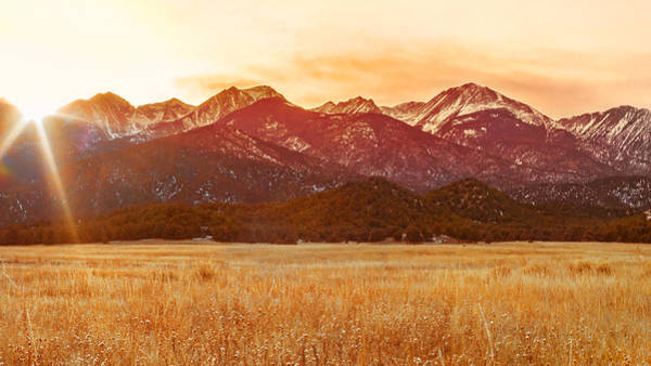 Digital Art - Sunset On The Continental Divide by Rick Wicker