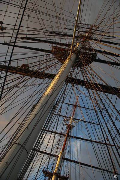 Photograph - Sunset On The Cutty Sark by John Meader
