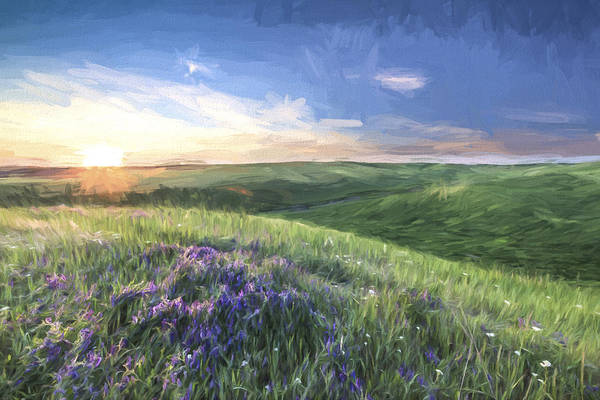 Agriculture Digital Art - Sunset On The Farm II by Jon Glaser