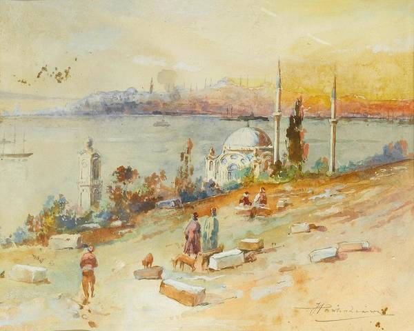 Russian River Painting - Sunset On The Golden Horn Istanbul by MotionAge Designs