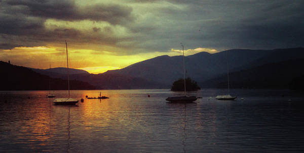 Lake District Wall Art - Photograph - Sunset On The Lake by Martin Newman