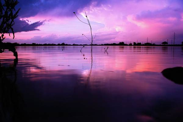 Photograph - Sunset On The Lake by Tyson Kinnison