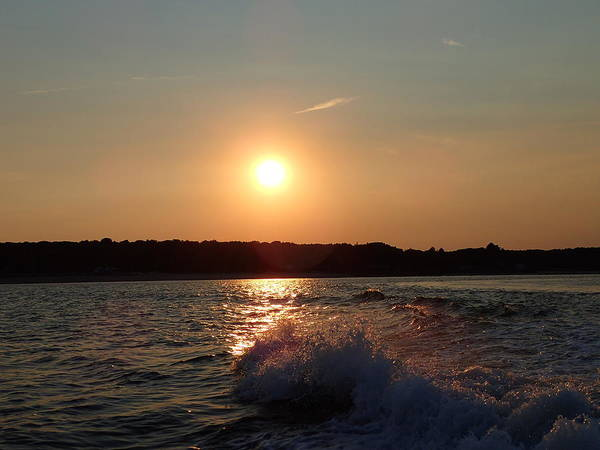 Photograph - Sunset On The Long Island Sound by Susan Jensen