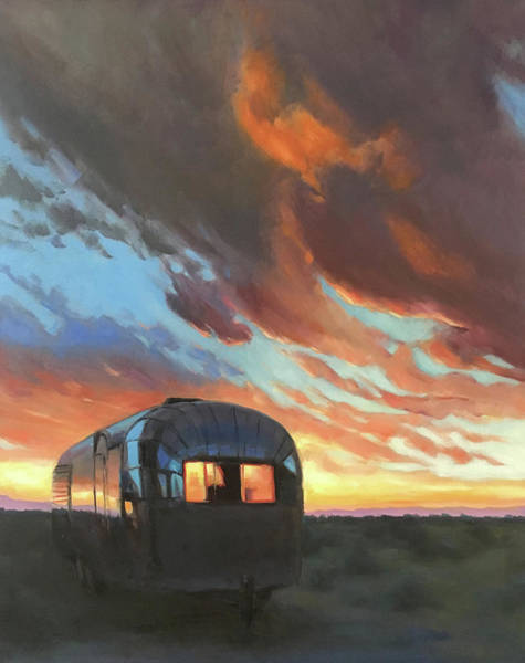 Sunset On The Mesa Art Print