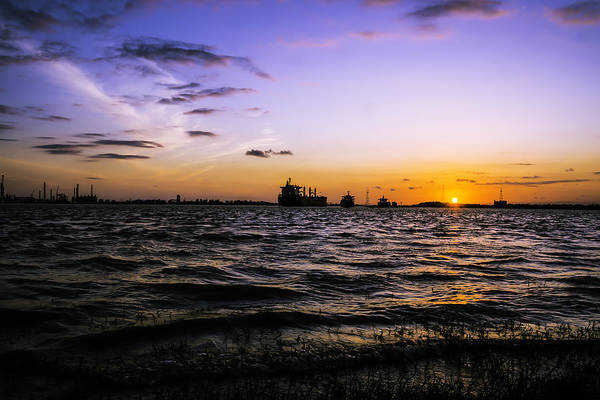 Photograph - Sunset On The Mississippi River, New Orleans, Louisiana by Chris Coffee