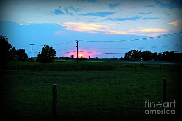 Photograph - Sunset On The Ranch  by Frank J Casella