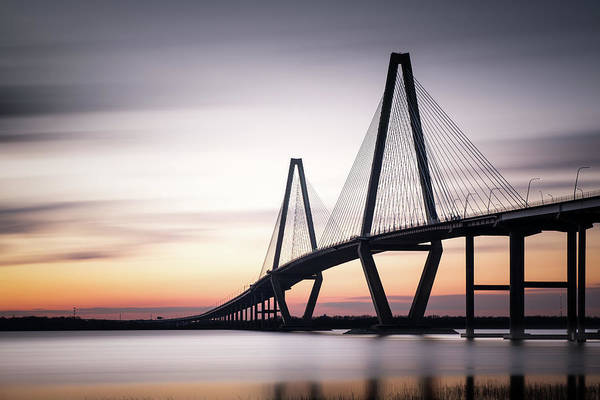 Wall Art - Photograph - Sunset On The Ravenel Bridge by Ivo Kerssemakers