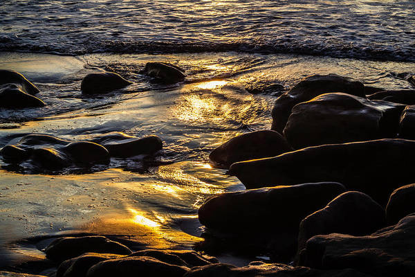 Sunset On The Rocks Art Print