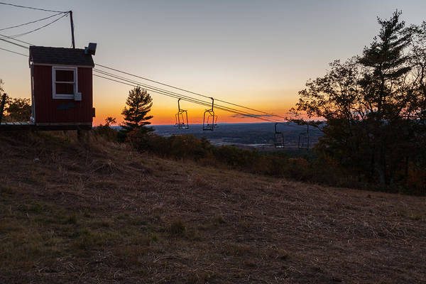 Photograph - Sunset On The Ski Lift by Brian MacLean