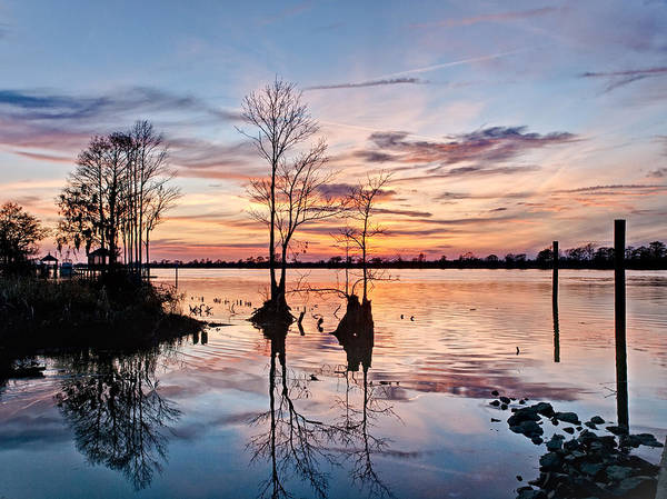 Photograph - Sunset On The Waccamaw by Mike Covington
