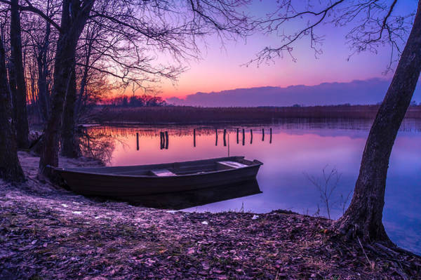 Photograph - Sunset On The White Lake by Dmytro Korol