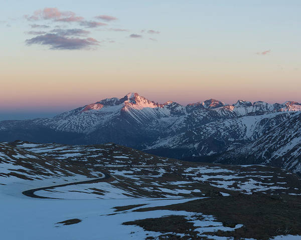 Wall Art - Photograph - Sunset On Trail Ridge Road  by Aaron Spong