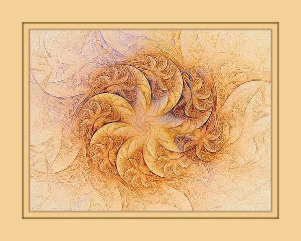 Digital Art - Sunset Orchids W Border by Doug Morgan