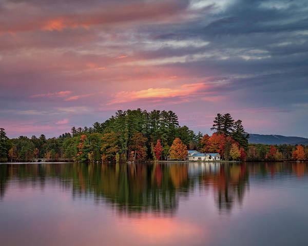 Photograph - Sunset Over A Little House On Pennesseewassee by Darylann Leonard Photography