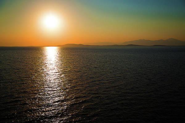 Photograph - Sunset Over Aegean Sea by Milena Ilieva