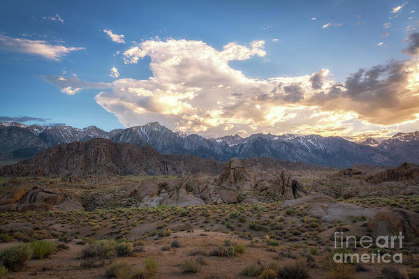 Sierra Nevada Mountain Range Photograph - Sunset Over Alabama Hills  by Michael Ver Sprill