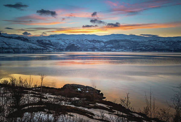 Sunset Over Altafjord Norway Art Print
