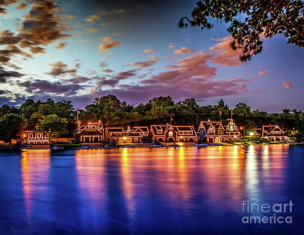Photograph - Sunset Over Boathouse Row by Nick Zelinsky