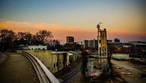 Downtown Raleigh Wall Art - Photograph - Sunset Over Boylan Bridge by Anthony Doudt