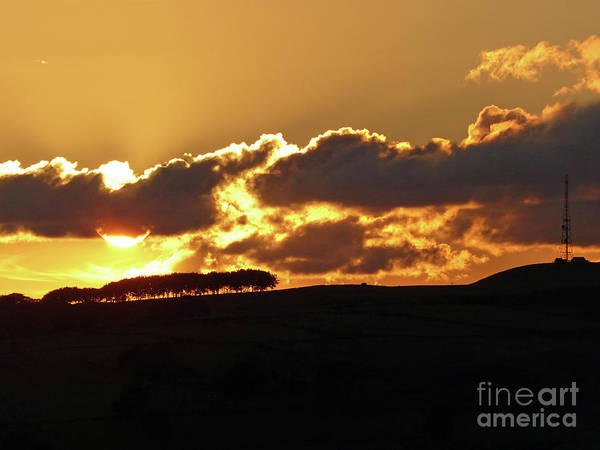 Photograph - Sunset Over Calver Peak by Phil Banks