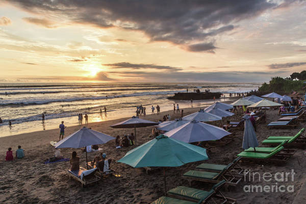 Photograph - Sunset Over Canggu Beach In Bali by Didier Marti