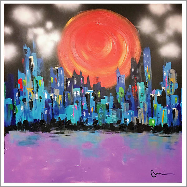Wall Art - Painting - Sunset Over Capital Square by Mac Worthington