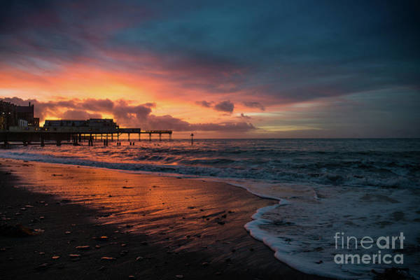 Photograph - Sunset Over Cardigan Bay And Aberystwyth Pier by Keith Morris