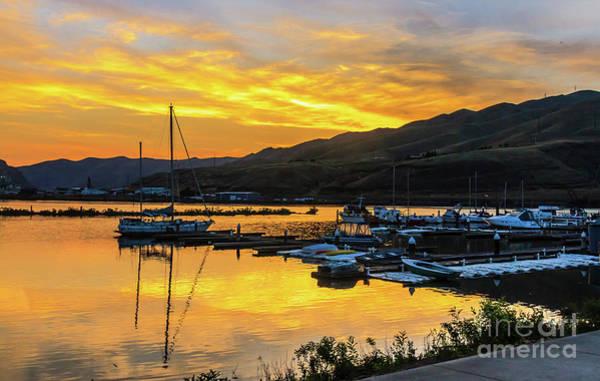Wall Art - Photograph - Sunset Over Clarkston Marina by Robert Bales