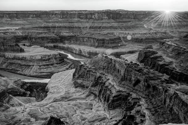 Photograph - Sunset Over Dead Horse Point - Moab Utah - Black And White Edition by Gregory Ballos