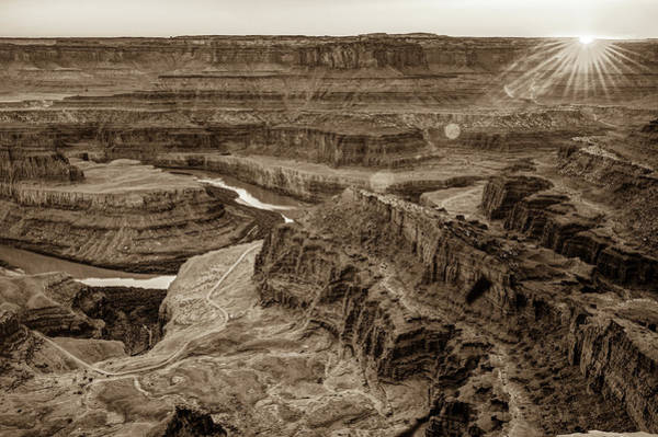 Photograph - Sunset Over Dead Horse Point - Moab Utah - Sepia Edition by Gregory Ballos