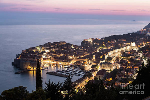 Photograph - Sunset Over Dubrovnik In Croatia by Didier Marti