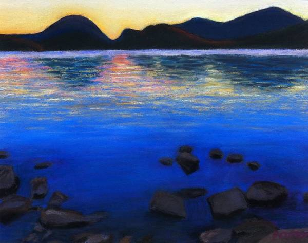 Pastel - Sunset Over Eagle Lake by Polly Castor